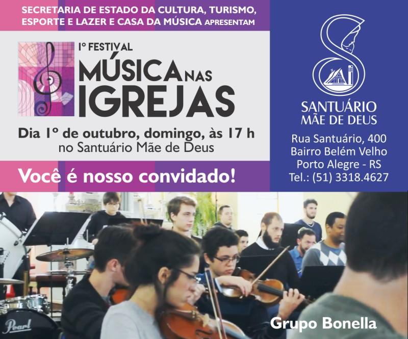 Primeiro Festival Música nas Igrejas - 1° de outubro de 2017 no Santuário Mãe de Deus
